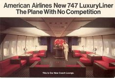 American Airlines - Couch lounge #aviationglamourpanam