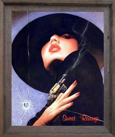 Vogue Wall Decor Picture Sweet Revenge Woman with Gun Beauty Fashion Art Print Poster Art Prints, Poster Wall, Poster Prints, Picture Frames, Framed Art Poster, Bullet Art, Fashion Art Prints