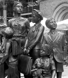 Kindertransport Memorial at Liverpool St. Station, London. Kindertransport is the name given to the rescue mission that took place nine months prior to the outbreak of World War II.
