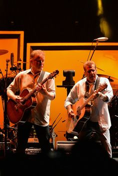 Don Henley and Glenn Frey of the Eagles perform at the Bridgestone Arena on October 16, 2013 in Nashville, Tennessee.