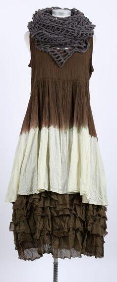 cocon commerz privatsachen - Kleid Bio Cotton Crash Batik hopfen - Sommer 2015 - stilecht - mode für frauen mit format...