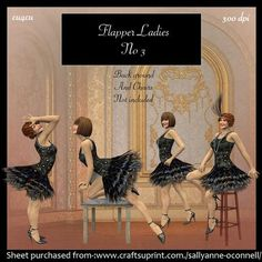 Flapper Ladies no 3 on Craftsuprint - Add To Basket!
