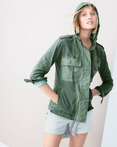 APR '14 Style Guide: J.Crew hooded fatique jacket.