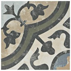 Merola Tile Evoque Carthusian Encaustic 9-3/4 in. x 9-3/4 in. Porcelain Floor and Wall Tile (11.11 sq. ft. / case)-FCD10EVC - The Home Depot