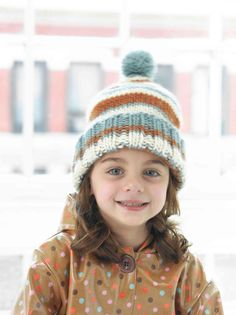 Knitting Patterns for Baby Lion brand Knitted Greenwood stripe Hat in chunky Lion Brand Alpine Wool! Knitting Patterns Free Dog, Knitting For Kids, Baby Patterns, Free Knitting, Knitting Ideas, Knit Patterns, Knitting Supplies, Crochet Kids Hats, Knitted Hats
