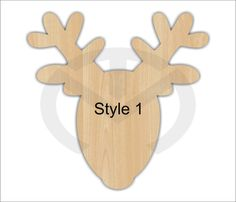 Unfinished Wood Rudolph Reindeer Laser Cutout 3 STYLES