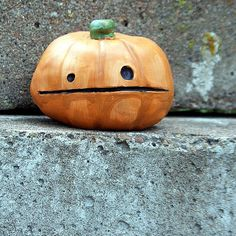 I adore the simple face on this pumpkin. So. Cute.
