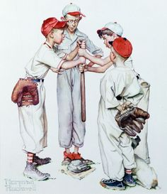 Norman Rockwell at the Slugger Museum