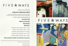 I have work in this show with Five Ways Art! 16 October, Invitations, Sculpture, Prints, Blog, How To Make, Painting, Art, Art Background