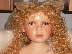 REZERVACE porcelánová panenka - anděl,značená 60 cm - 1
