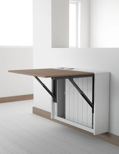 Folding Dining Table and Chairs . Folding Dining Table and Chairs . Ikea Ingatorp Table and Ingolf Chairs Wall Mounted Table Kitchen, Folding Kitchen Table, Wall Mounted Folding Table, Foldable Dining Table, Kitchen Table Chairs, Small Kitchen Tables, Folding Walls, Table For Small Space, Desks For Small Spaces