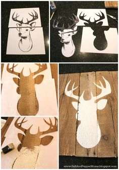 Salt and Pepper Moms: DIY Deer Art