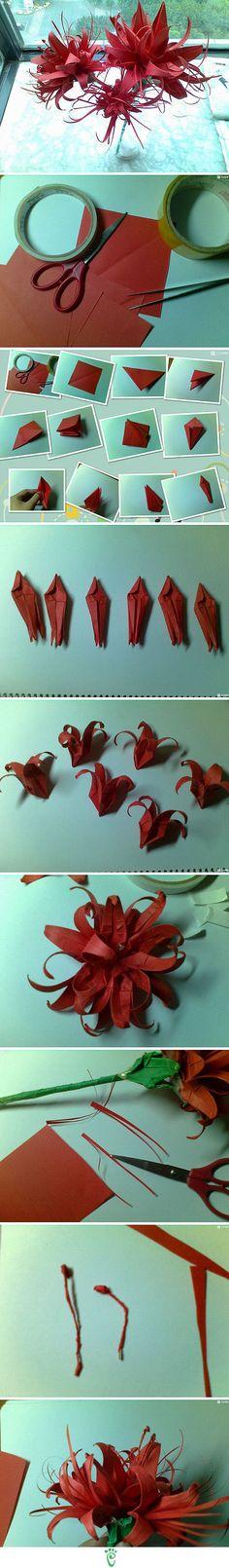 Création fleurs papier
