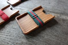 Minimalism Wooden wallet(Green-Red X Cherry) Armoury M , card wallet, wood wallet,  women and men wallet , slim, modern, design, card holder on Etsy, $27.65 AUD