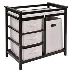 3a6c3b949c64 Details about Espresso Infant Baby Changing Table w/3 Basket Hamper Diaper  Storage Nursery New | Products | Baby changing tables, Diaper storage, ...