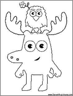 coloring moose and zee