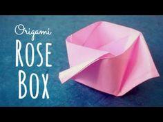 Origami Rose Box (Maria Sinayskaya) - YouTube
