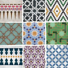 Moroccan stencil patterns and inspiring color combos from Royal Design Studio.
