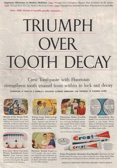 Crest Toothpaste Advertisment  From Better Homes & Gardens magazine, 1956