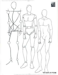 How to draw a man body