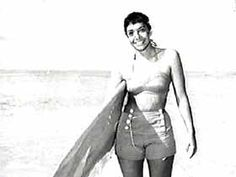 Anona Napoleon, 1961. One of the first female surfer champs in Hawai'i