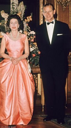 Cool consort: A night out in London, 1963. Ok, Prince Phillip looks well turned out. But look beautiful the Queen looks on this gorgeous gown. She was a beauty in her day.