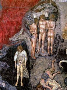 Giotto - Cappella Scrovegni - Particolare di Giuda e gli avari