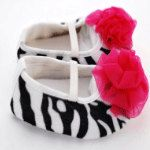 Zebra or Leopard print crib shoes  READY TO by ladybows10 on Etsy, $8.50
