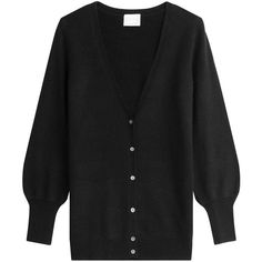 Claudia Schiffer Cashmere Cardigan (6,165 MXN) ❤ liked on Polyvore featuring tops, cardigans, black, cashmere tops, cardigan top, cashmere cardigan and claudia schiffer