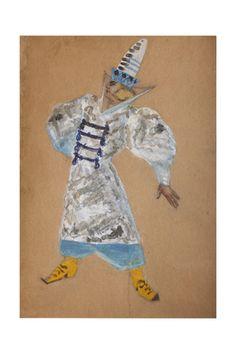 Sergei Vasilyevich Malyutin - Costume Design for the Opera the Golden Cockerel by N. Rimsky-Korsakov - Giclee Baskı - AllPosters.com.tr'de.