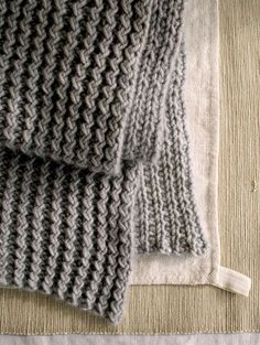 The Ric Rac Rib Scarf. Began knitting in a harvest color.:
