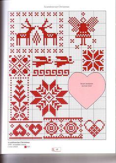 Scandinavian Christmas cross stitch charts