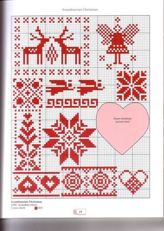 Scandinavian Christmas cross stitch charts