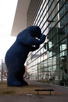 Big bear outside Denver Convention Center
