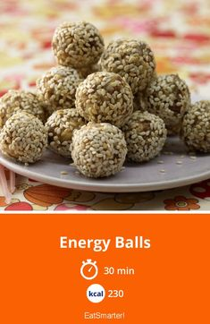 Energy balls- Energy Balls Energy balls with dates Calories: 230 Kcal – Time: 30 min. Easy Baking Recipes, Raw Food Recipes, Snack Recipes, Vegan Energy Balls, Energy Bites, Clean Eating Snacks, Healthy Snacks, Caramel Vegan, Cookies