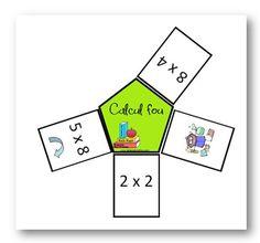 Calcul Fou - jeu sur les tables de multiplication - La classe de Mallory