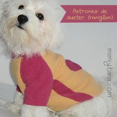 Sew a cute dog pajamas with this premium pattern available in nine sizes! Dog clothes patterns with easy step by step instructions. Make dog clothes! Dog Sweater Pattern, Pajama Pattern, Dog Pattern, Sweater Patterns, Vest Pattern, Hat Patterns, Free Pattern, Diy Pet, Dog Tuxedo