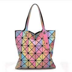 Rainbow Triangle Design Handbag