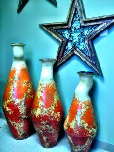 Wall star with home decor. Pottery Shop Clinton, Ar
