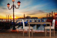 Dusk Venice Canal Mural
