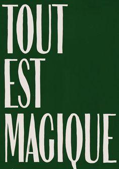 HOTEL MAGIQUE Green Tout est Magique greeting card SHOP ONLINE