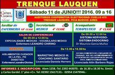 Sábado 11 de JUNIO!!! 2016. 09 a 16. COOPERATIVA DE ELECTRICIDAD