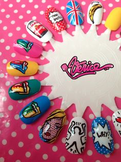 THIS IS VENICE… POP ART nails