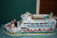 P & O Pacific Dawn Wedding Cake 4 Ts