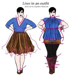Lines in an outfit