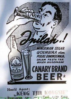 CANARY BRAND BEER : Bikin gembira euy