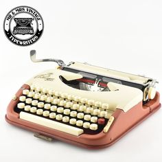 Refurbished Princess 300 Typewriter into an Excellent working Condition. Light and portable Typewriter. By Mr & Mrs Vintage Typewriters UK & Worlwide Typewriter For Sale, Antique Typewriter, Portable Typewriter, Typeface Font, Sign Writing, Brick Colors, Vintage Typewriters, Red Ribbon, Conditioner