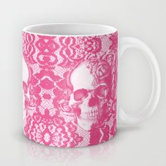 Bubblegum and Lace. Mug by Kristy Patterson Design