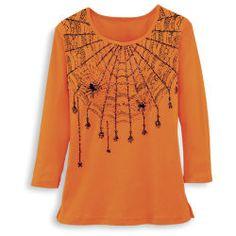 Sparkling Spiderweb Knit Top