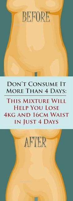 4 Ingredient Mixture to Drink Morning and Night for Accelerated Weight Loss.